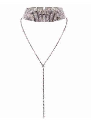 Choker de diamantes ancho con cadena producto
