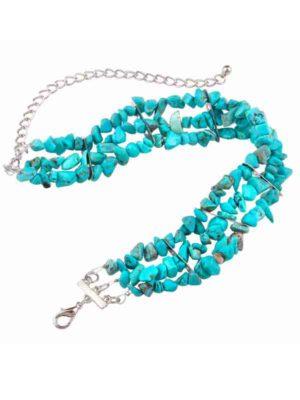 gargantilla de piedras azul turquesa producto