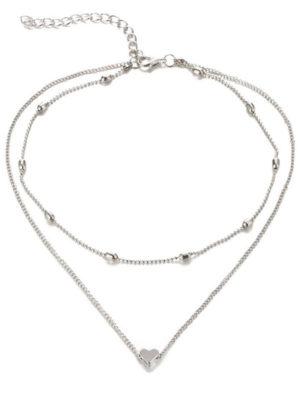 collar ajustado al cuello con colgante corazon
