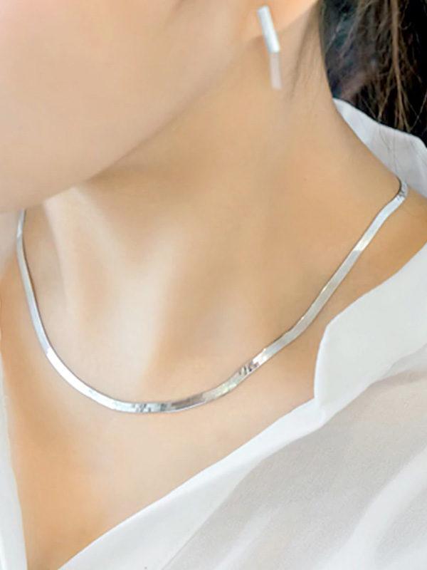 collar gargantilla de plata elegante para mujer