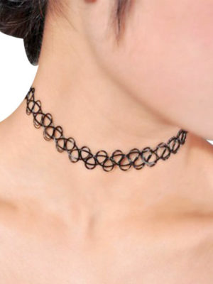 collar choker plastico negro tattoo