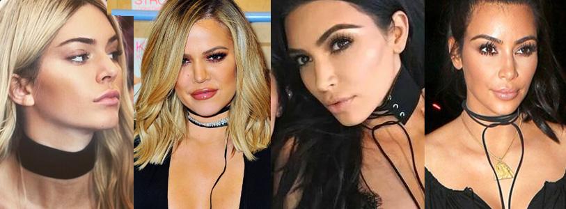collares ajustados al cuello de moda Kardashian