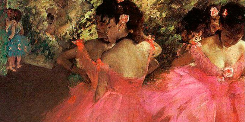 bailarinas con una cinta en el cuello negra cuadro edgar degas
