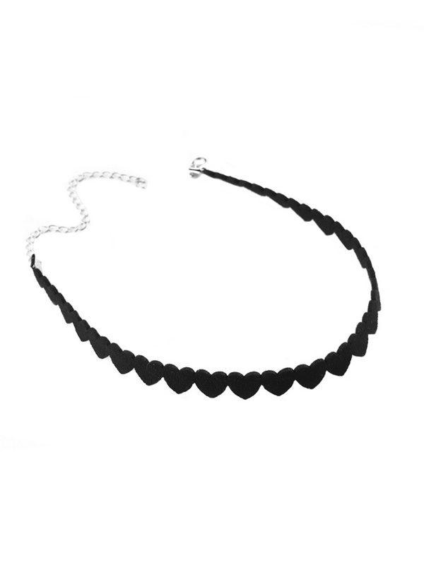 collar de corazones negro