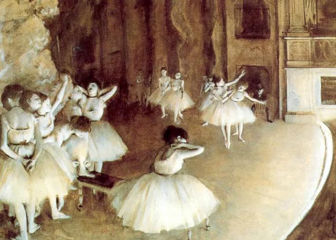 bailarinas ballet cinta negra en el cuello